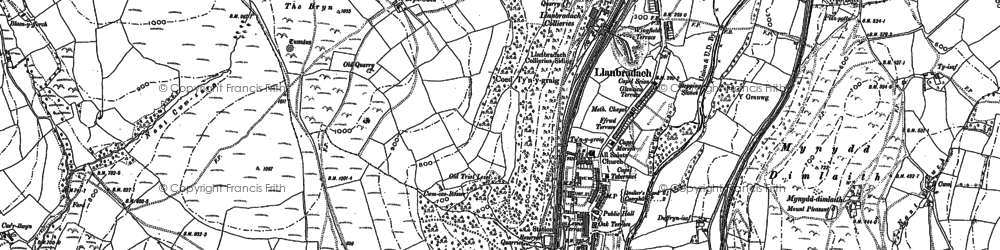 Old map of Llanbradach in 1915