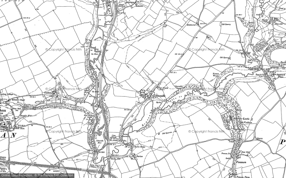 Old Map of Llancadle, 1897 - 1914 in 1897