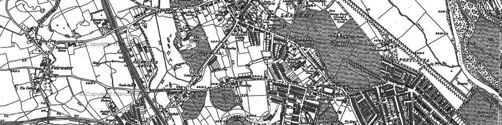 Old map of Llandaff in 1899