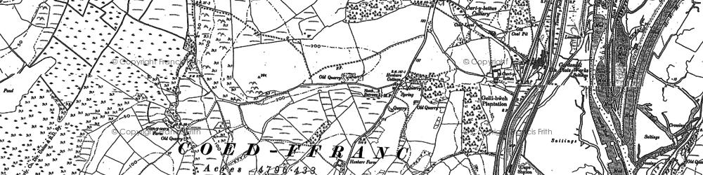 Old map of Llandarcy in 1897