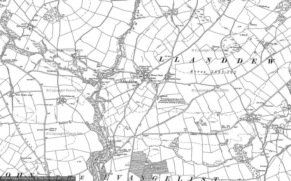 Old Map of Historic Map covering Alexanderstone in 1887