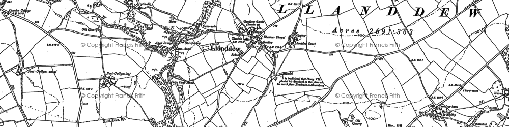Old map of Alexanderstone in 1887