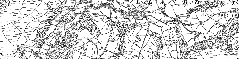 Old map of Banc y Celyn in 1903