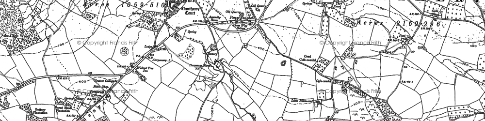 Old map of Ysgyryd Fawr in 1899