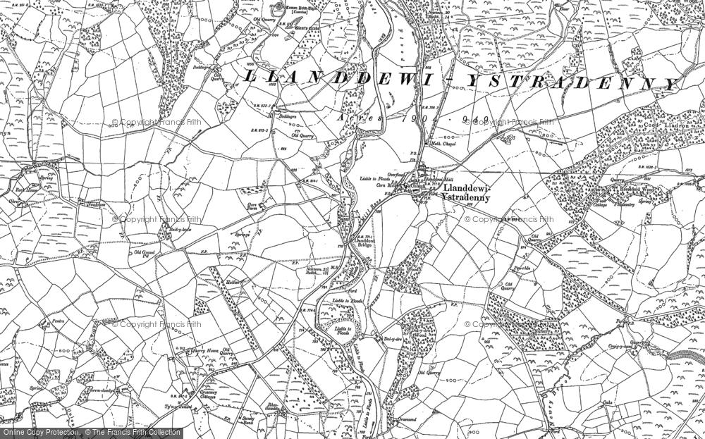 Llanddewi Ystradenni, 1887 - 1888