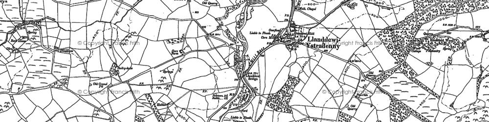 Old map of Aber-Camddwr Br in 1887