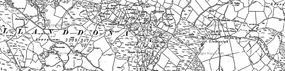 Old map of Llanddona in 1888
