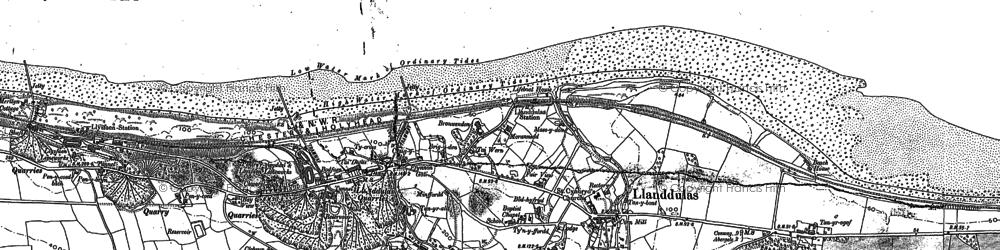 Old map of Llanddulas in 1911