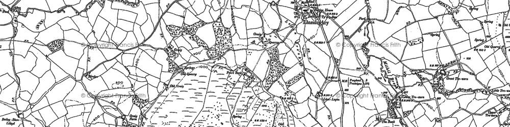 Old map of Bailey-mawr in 1887