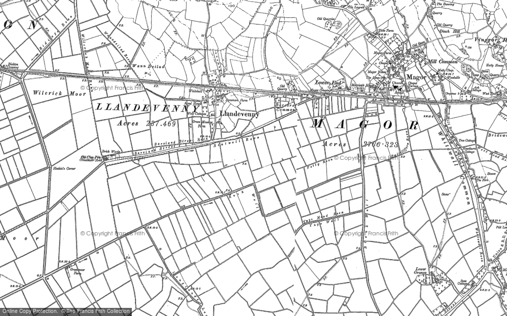Old Map of Historic Map covering Barecroft Common in 1900