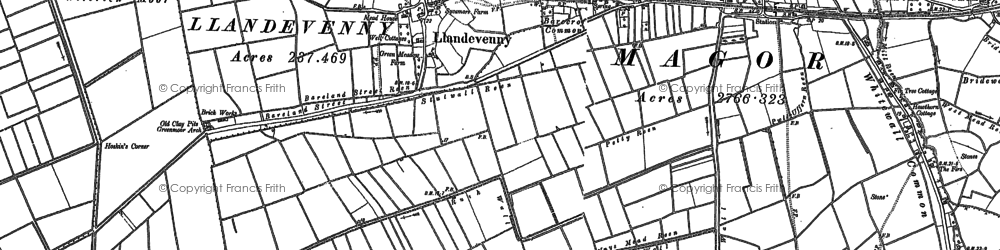 Old map of Barecroft Common in 1900