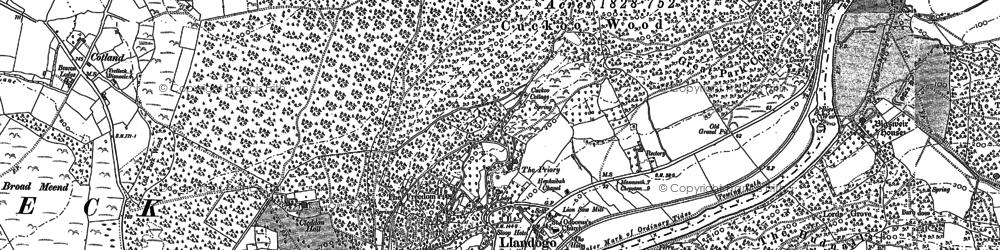 Old map of Llandogo in 1900