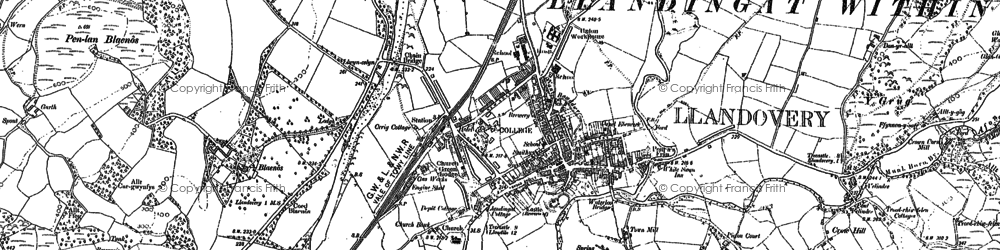 Old map of Ystrad in 1886