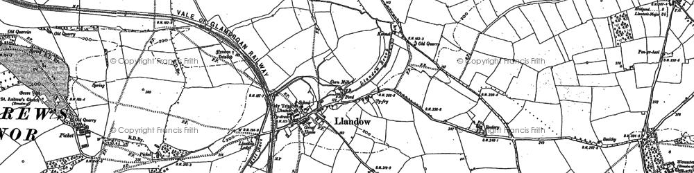 Old map of Llandow in 1897