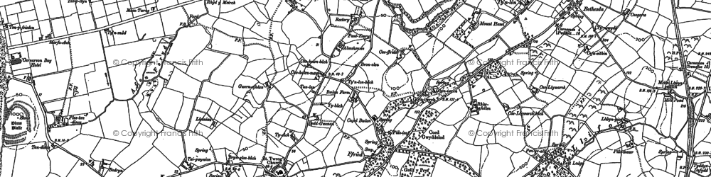 Old map of Afon Foryd in 1899