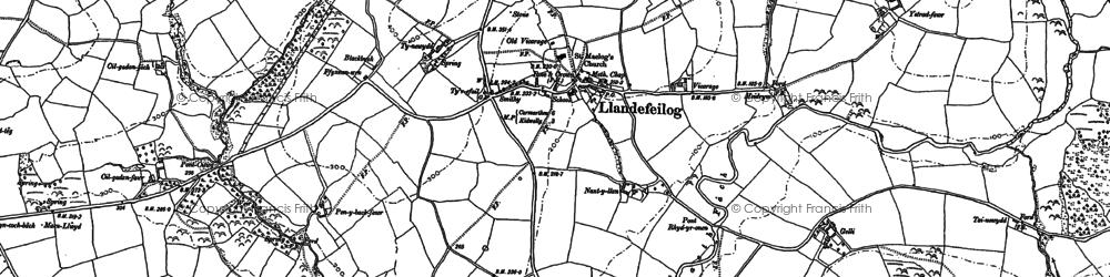 Old map of Ystradferthyr in 1887