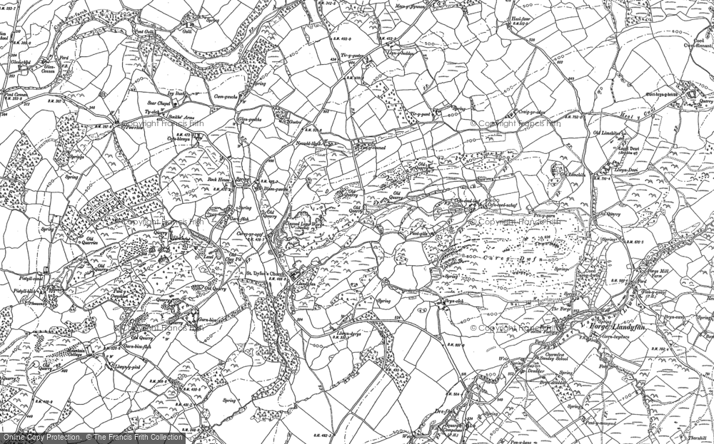 Old Map of Historic Map covering Afon Llwchwr in 1877