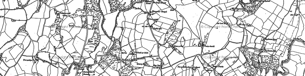 Old map of Ystlys-y-coed isaf in 1905