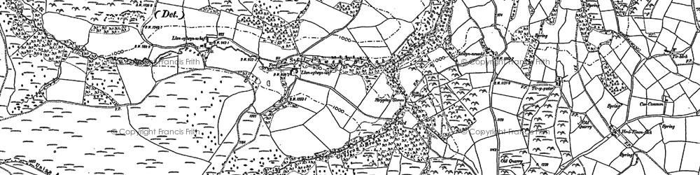 Old map of Ysgwydd Hwch in 1887