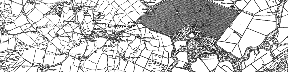 Old map of Dyffryn Dysynni in 1900