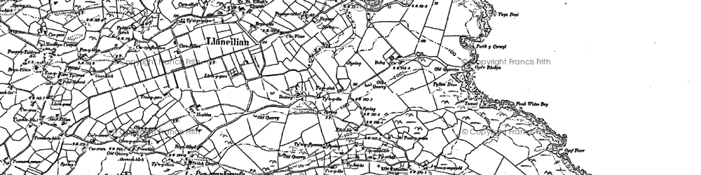 Old map of Balog in 1899