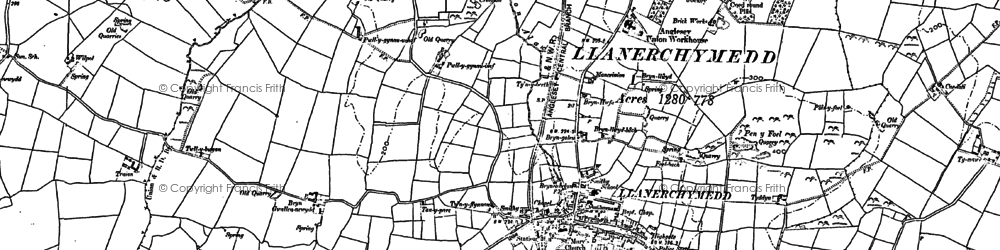 Old map of Wilpol in 1887