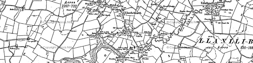 Old map of Llanfachraeth in 1887