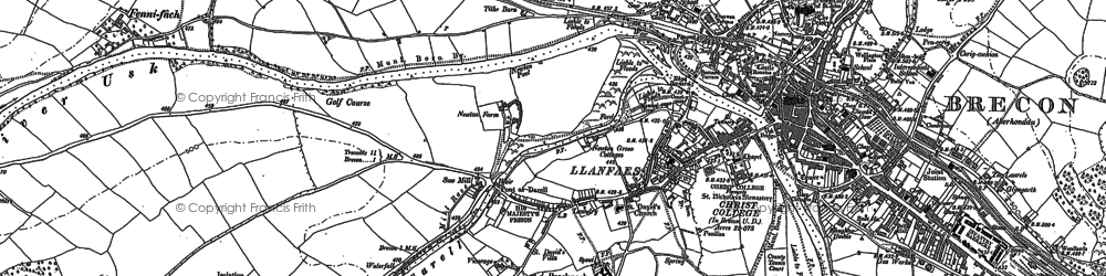 Old map of Bailyhelig in 1882