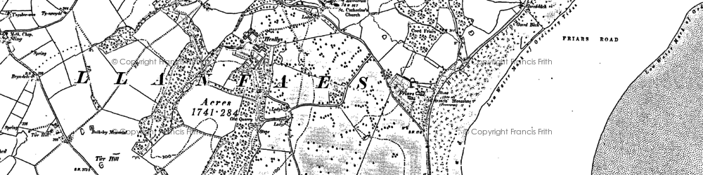 Old map of Llanfaes in 1888
