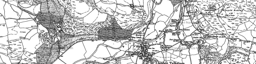 Old map of Ysgubor-newydd in 1898