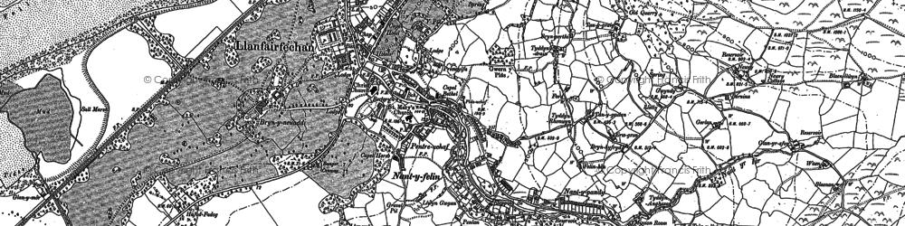 Old map of Llanfairfechan in 1887