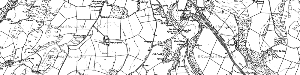 Old map of Aberllolwyn in 1904