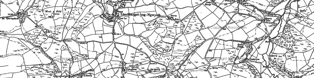 Old map of Adwywynt in 1885