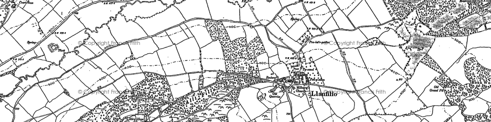 Old map of Allt Filo in 1886