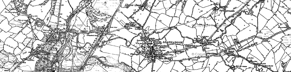 Old map of Ashfield in 1884