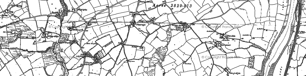 Old map of Ystradwalter in 1887