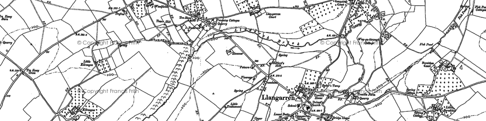 Old map of Langstone Court in 1887