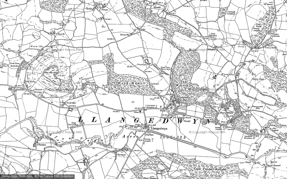 Old Map of Historic Map covering Banhadla in 1910