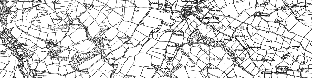 Old map of Aeron Dale in 1887