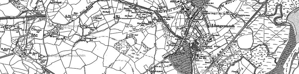 Old map of Allt in 1878