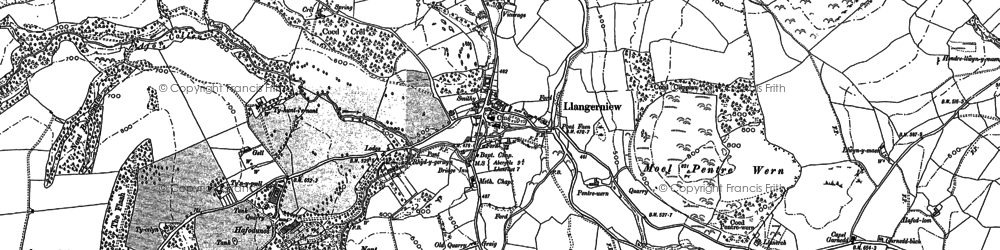 Old map of Ynys Rhys in 1899