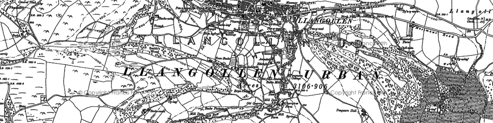 Old map of Bache Canol in 1909
