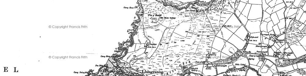 Old map of Ynys-Lochtyn in 1904