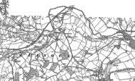 Old Map of Llangua, 1887 - 1904