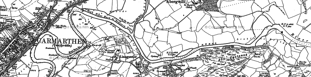 Old map of Bolahaul Fm in 1886