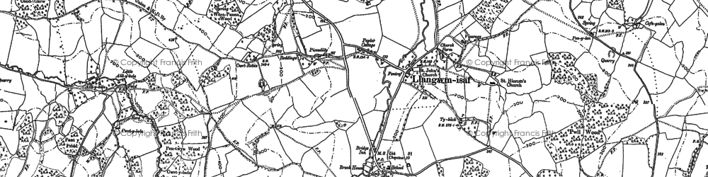 Old map of Allt-y-bela in 1899