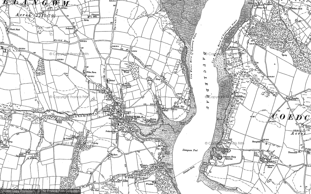 Old Map of Historic Map covering Ashdale in 1906