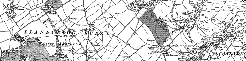 Old map of Castell in 1910