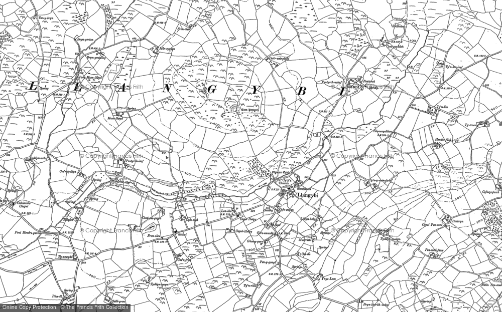 Old Map of Historic Map covering Afon Wen in 1888