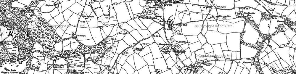 Old map of Afon Llan in 1897